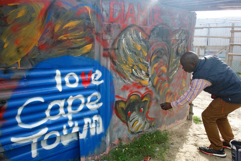 Südafrika – Graffiti in Kapstadt Khayelitsha