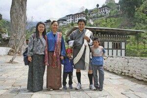 Familie in Trongsa