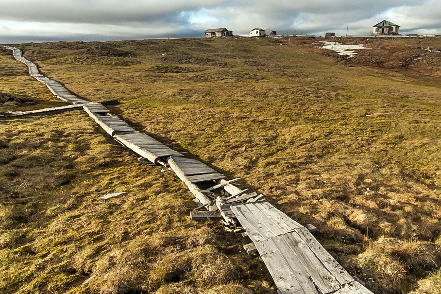Historische Siedlung, New Siberian Islands