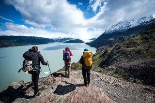 Aktiv unterwegs im Nationalpark Torres del Paine: Blick auf den Grey-Gletscher
