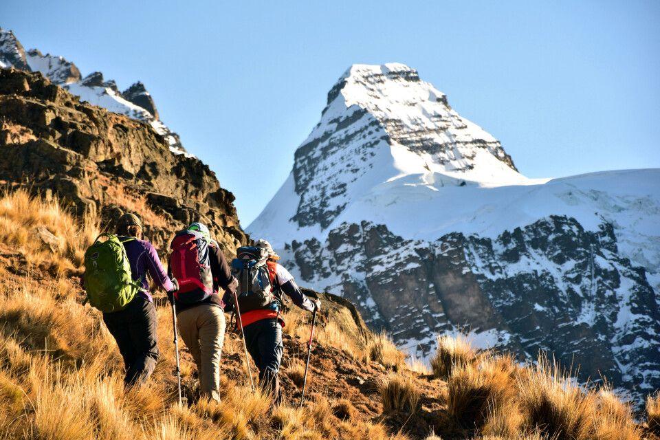 Aufstieg am Pico Austria