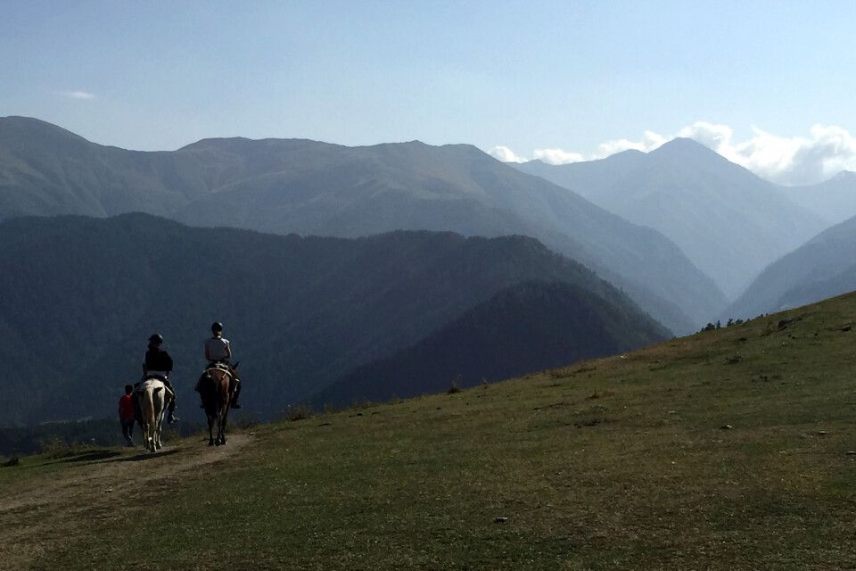 Reiter in Tuschetien