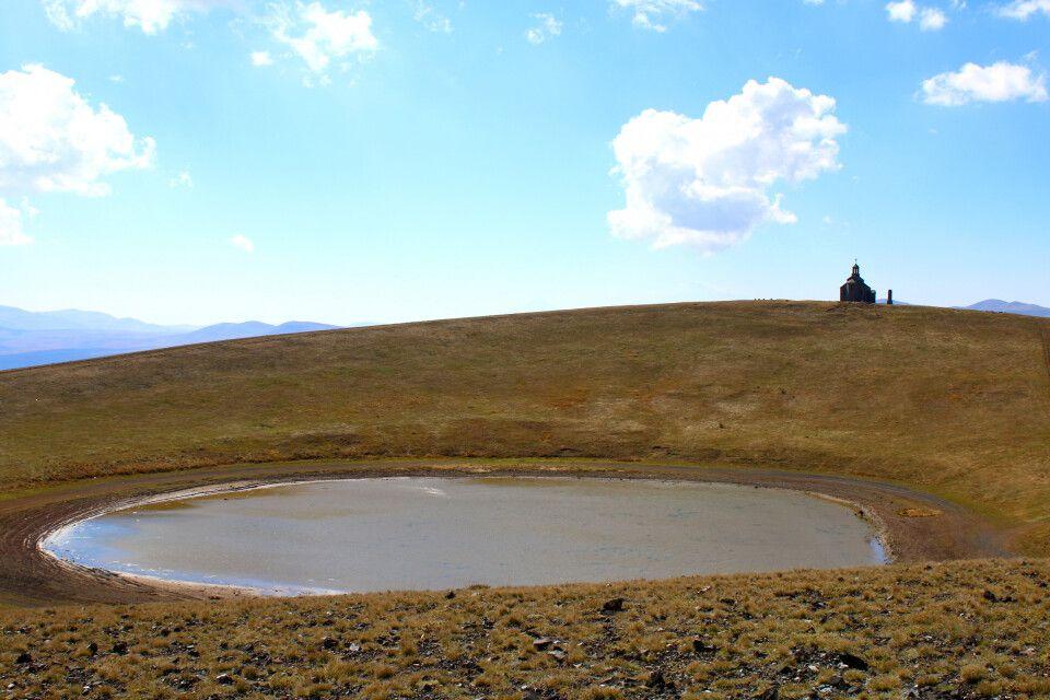 Krater des Vulkans Armaghan