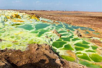 Dallol Schwefelterrassen in der Danakil-Wüste