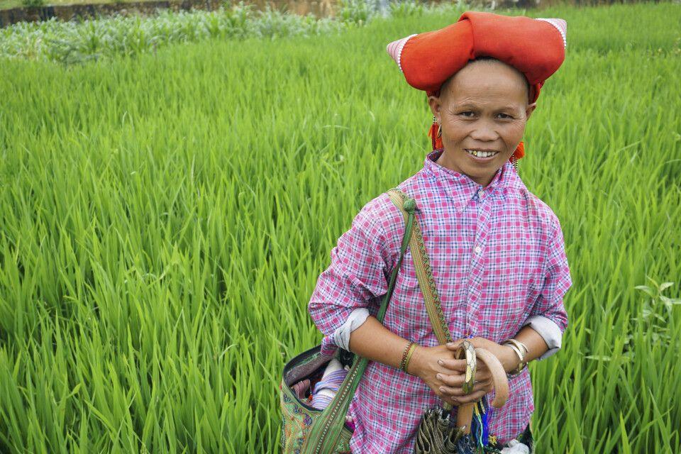 Begegnung auf einem exotischen Trekking in der Bergwelt Nordvietnams