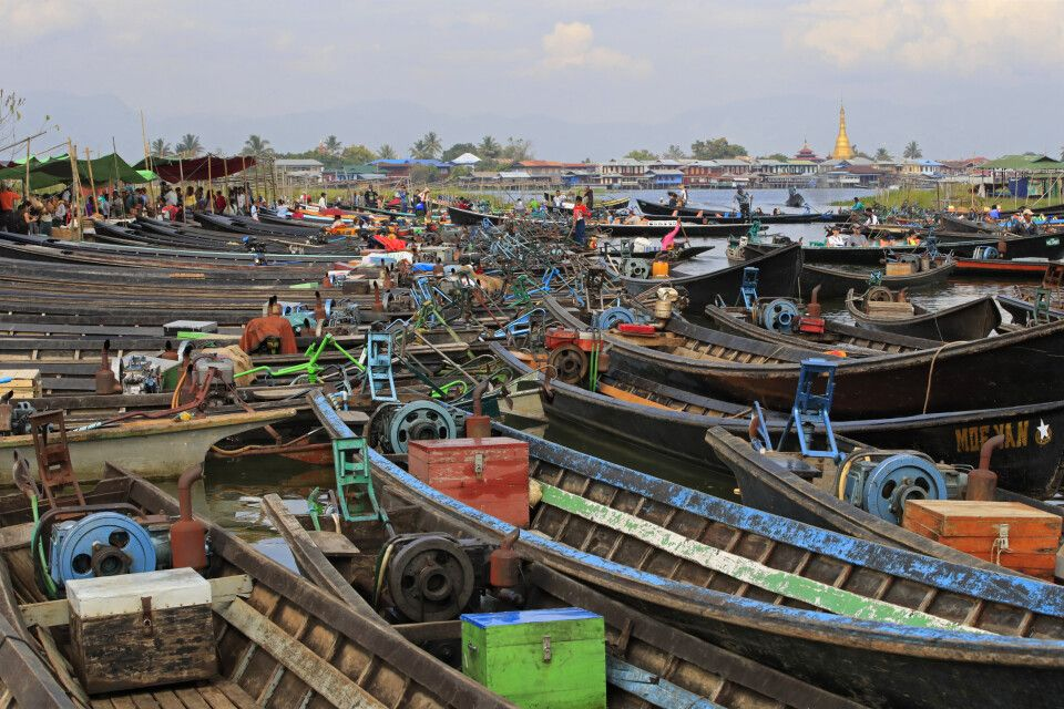 Inle-See: Markt in Nampan