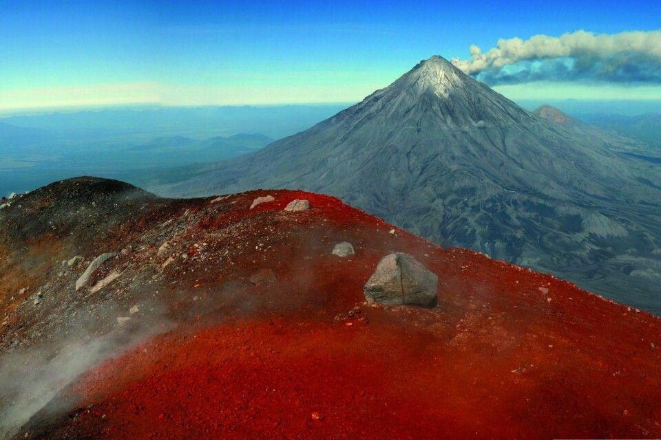 Blick vom Kraterrand des Awatschinskij