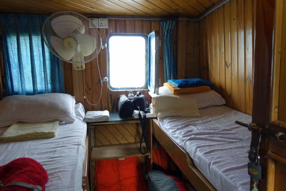 Gemütliche Schiffskoje im Sundarbans-Schiff