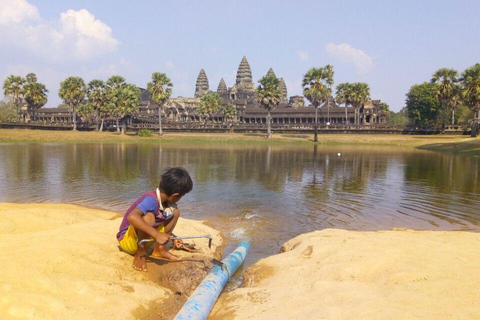 Angkor Wat - auch ein großer Abenteuerspielplatz für die Anwohner