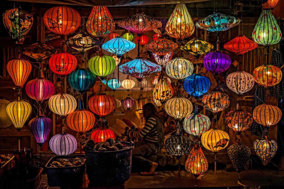 Lampions in der kleinen Stadt Hoi An