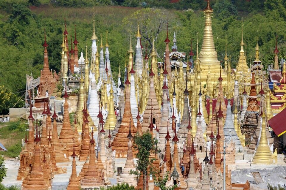 Shwe Indein Pagode am Inle-See