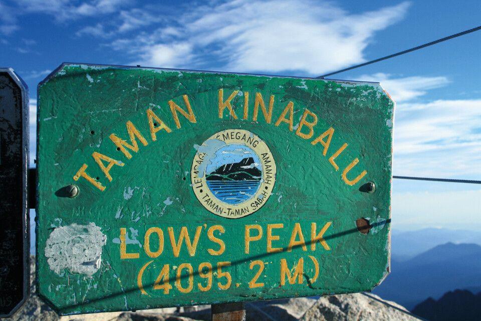 Gipfel des Mount Kinabalu, dem höchsten Berg Malaysias (4095m)