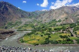 Entlang des Flusses  Panj