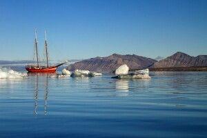 Die Noorderlicht in Spitzbergen