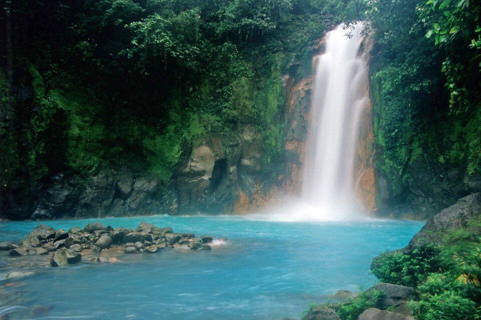 Wasserfall am Rio Celeste